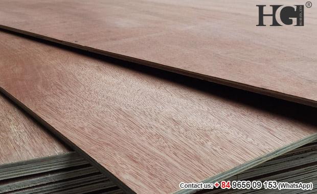 gỗ dán công nghiệp mặt đỏ